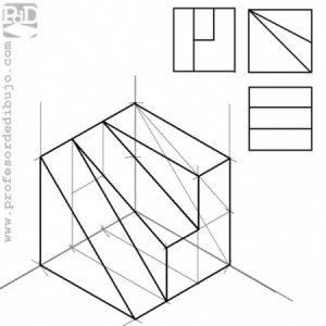PAGS #003 Dibujo isométrico de una figura dadas sus vistas (G. Valenciana / 2010).