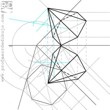 PAU #010 Diédrico: Pirámide hexagonal (Canarias/2000)