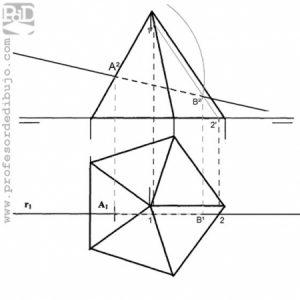 PAU #025 PAU Determinar una recta con intersección en pirámide (Madrid - 2008)