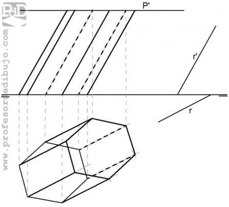 PAU #018 Diédrico: Prisma hexagonal (Galicia/2011)