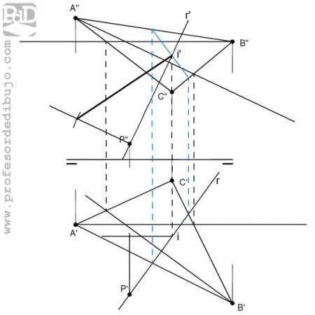 PAU  #024 Distancia entre un punto y un triángulo (Castilla y León/2008).