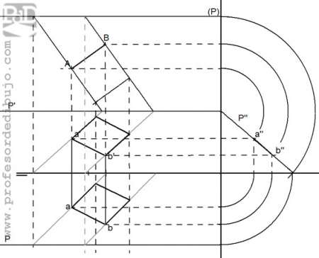 PAU #015 Cuadrado en plano paralelo a LT (Cantabria/2000)