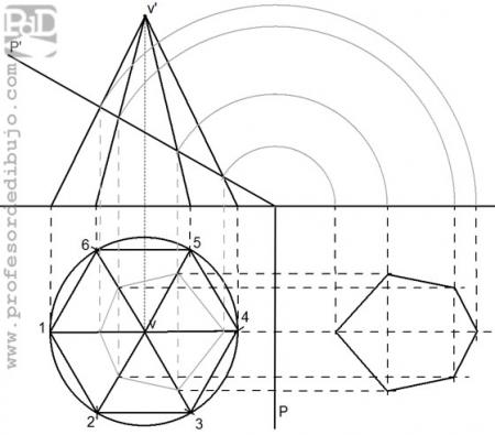 PAU #013 Sección de una pirámide hexagonal (Murcia/2000)