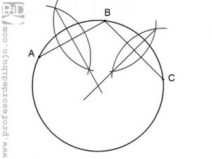 Dibujar la circunferencia que pasa por tres puntos
