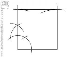 Dibujar un cuadrado partiendo del lado