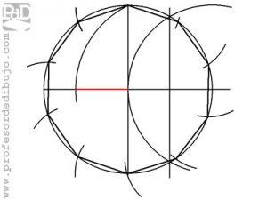 Como dibujar un polígono de 10 lados inscrito en una circunferencia (Decágono).
