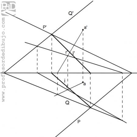 PAU #008 Diédrico: Definir plano e intersección (Galicia/2008)