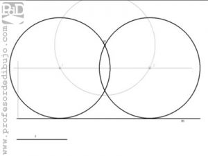 Circunferencias tangentes a una recta, conocido el radio y un punto de la circunferencia.