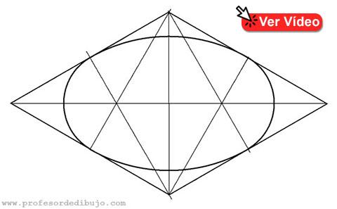 dibujar un óvalo isométrico (inscrito en un rombo)