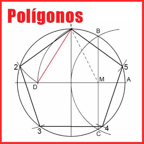 Polígonos en Dibujo Técnico