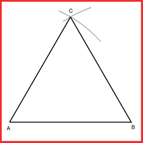 triángulo regular a partir del lado