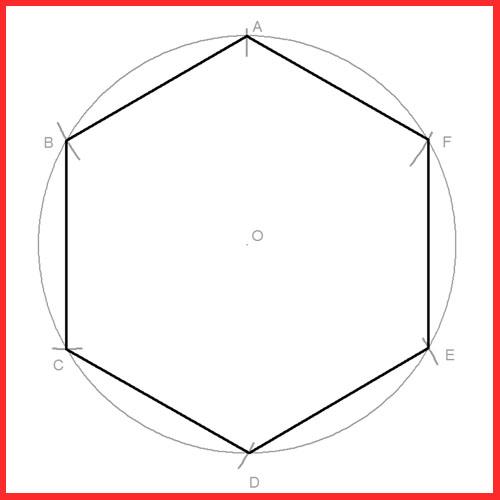 Hexágono inscrito en una circunferencia dado el radio