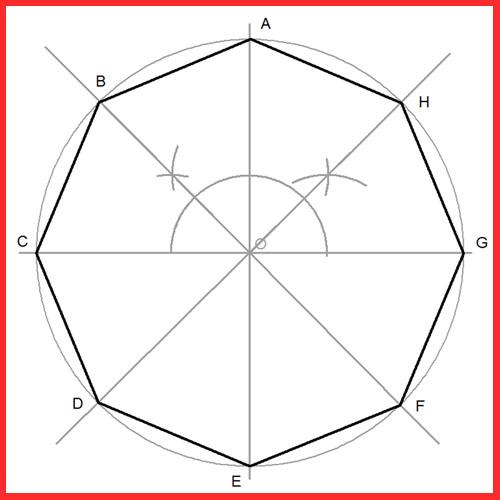 Octógono Inscrito en un Circunferencia