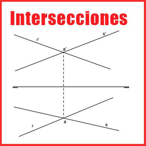 Intersecciones en Sistema Diédrico