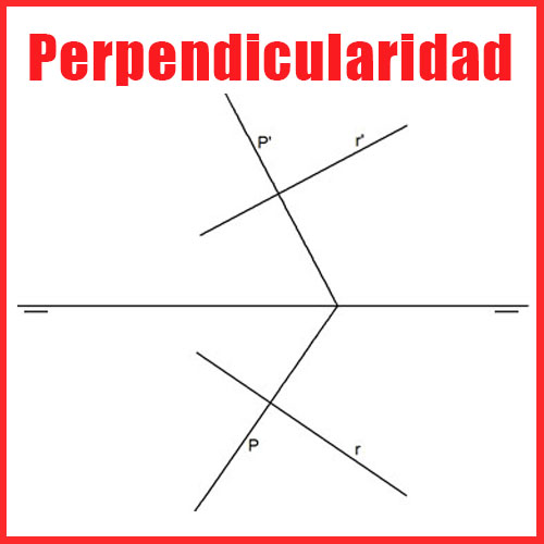 Perpendicularidad en Sistema Diédrico