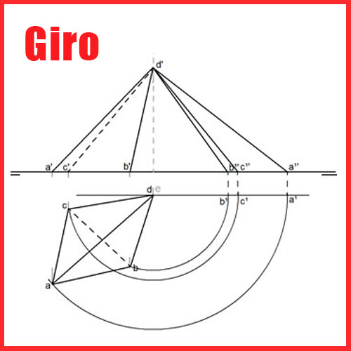Giro en Sistema Diédrico