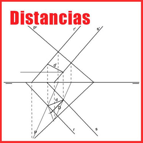 Distancias en Sistema Diédrico