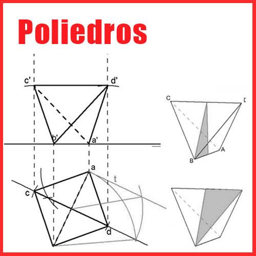 Poliedros regulares en Sistema Diédrico