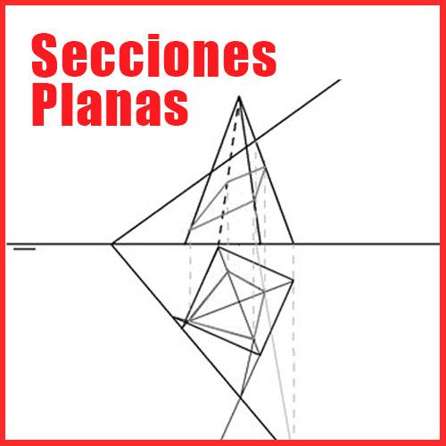 Secciones planas en Sistema Diédrico