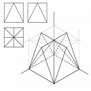 Pieza Isométrica dadas sus Vistas de Alzado, Planta y Perfil