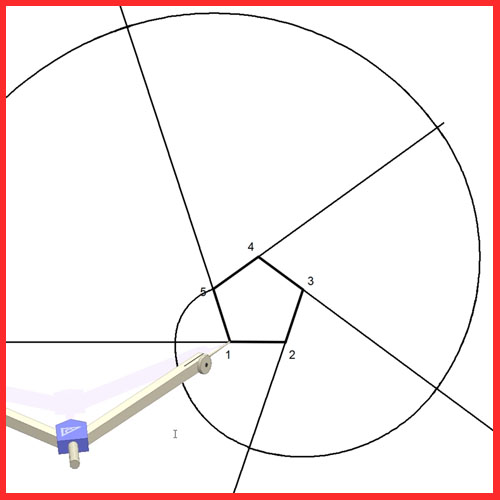 Espiral de núcleo pentagonal o envolvente de un pentágono