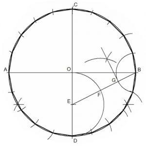 Isodecágono Regular Inscrito en una Circunferencia